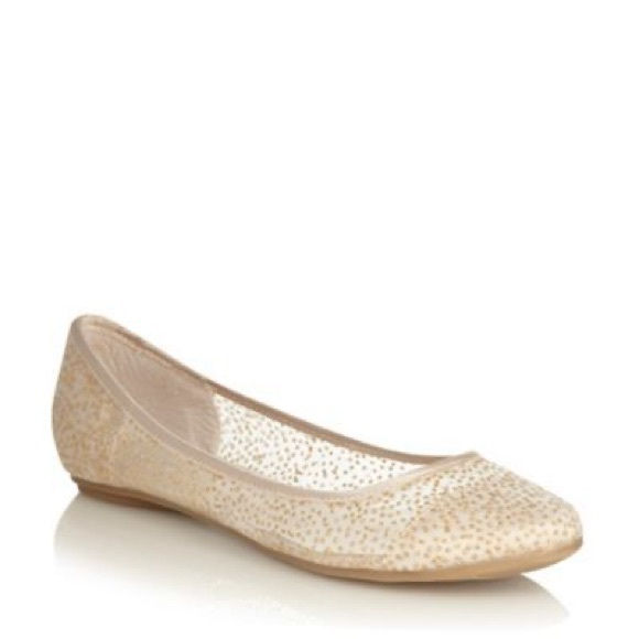 Sparkly Gold Ballet Flats